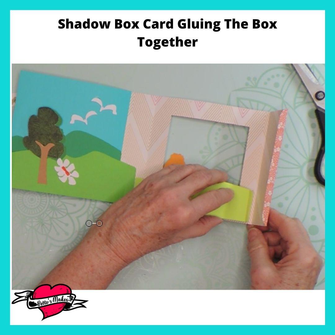 Shadow Box Card - Gluing the Box Together