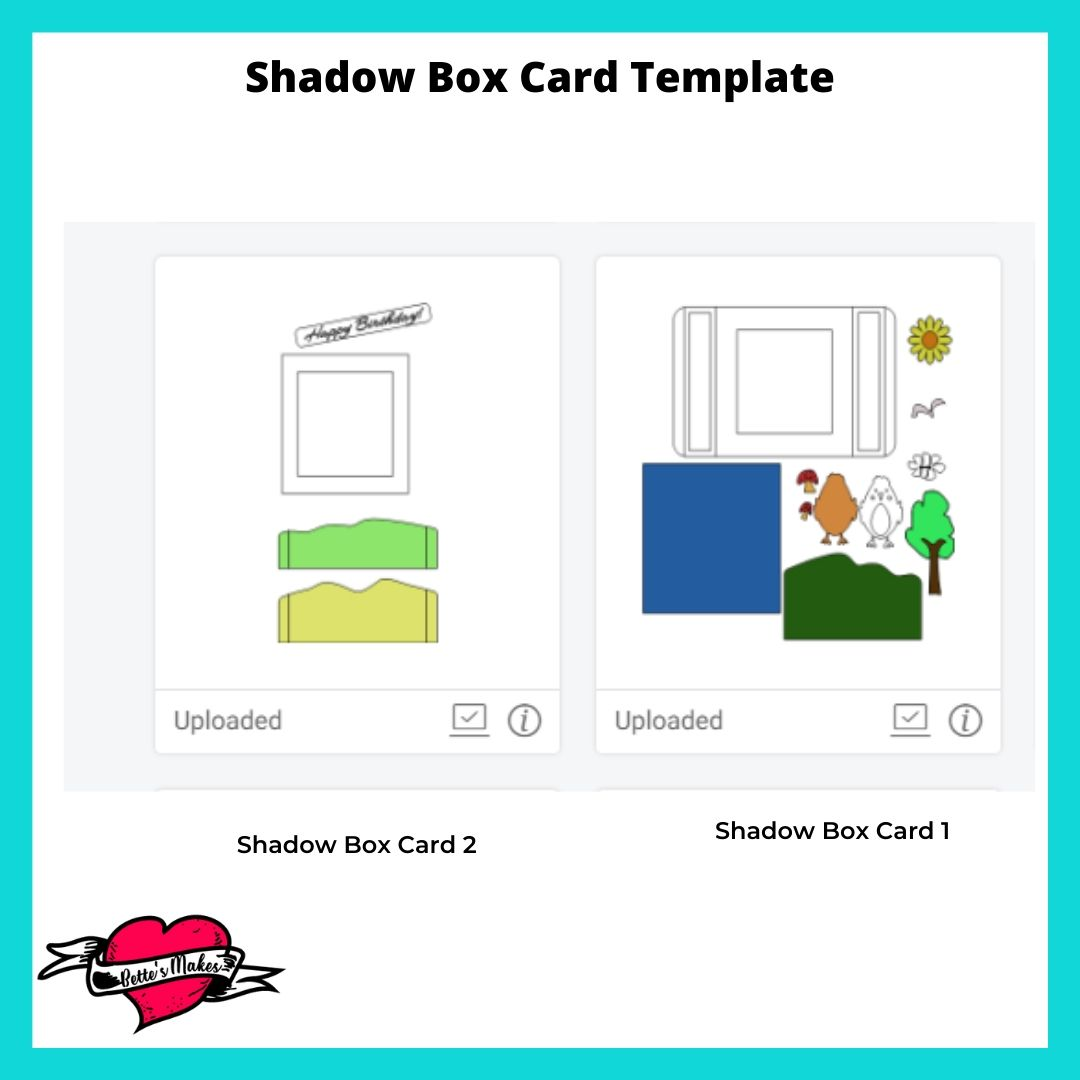Shadow Box Card Template Files