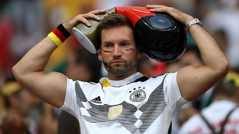 German fan disappointed after his team lost the 2018 WC opener against Mexico