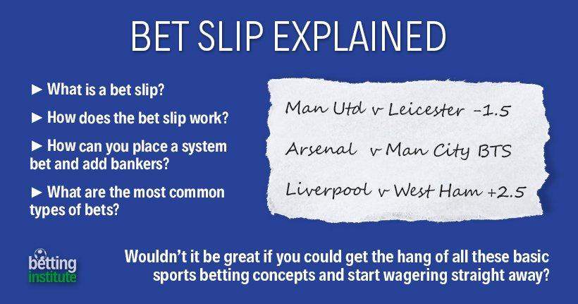 Bet Slip Explained Bet Ticket