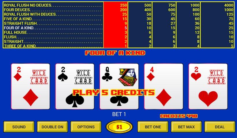 Deuces Wild Video Poker Slot