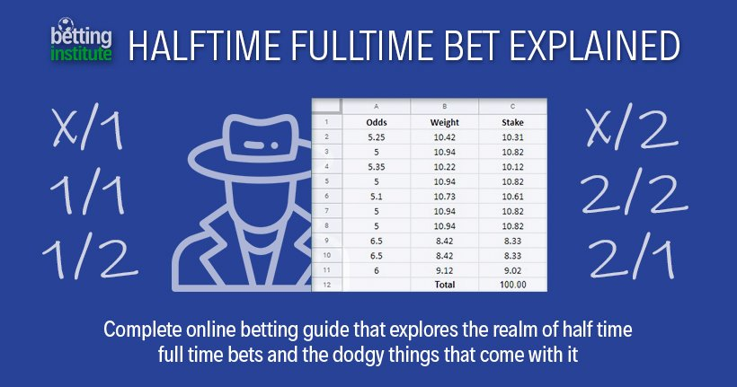 Ht ft betting explained synonyms sports betting atlantic city