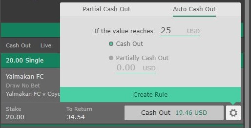 auto cash out create rule