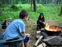The boys around the campfire