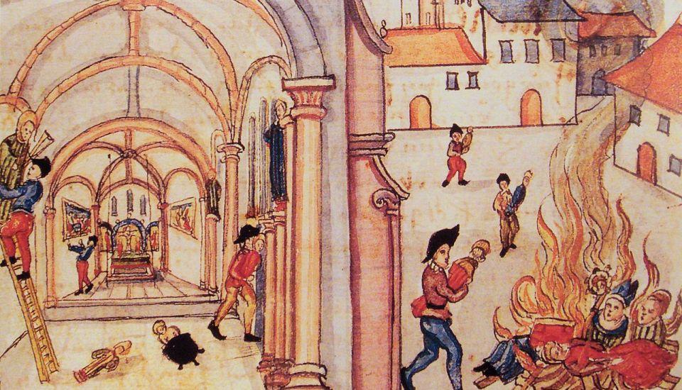 Destruction of icons in Zurich 1524.