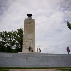 Eternal flame peace memorial that was dedicated in 1938.