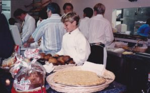 Vince working behind the counter at Gaetano's at age 10