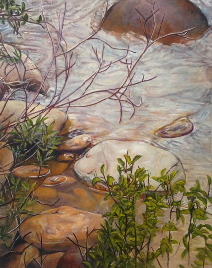 """The Animas River, Colorado,"" Oil on Canvas, 20""x24"" -SOLD"