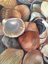 """Shells,"" Oil on Canvas, 18""x24"" -SOLD"