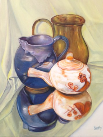"""""""Pottery,"""" Oil on Canvas, 16""""x20"""""""