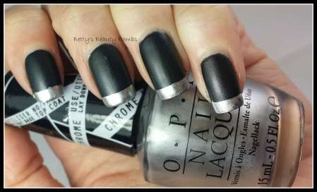 Black-and-Silver-French-Mani