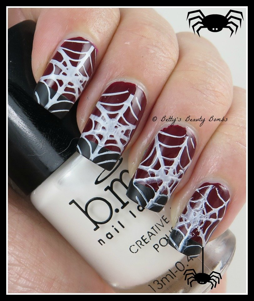 French Spiderweb Nail Art - Lazy Betty