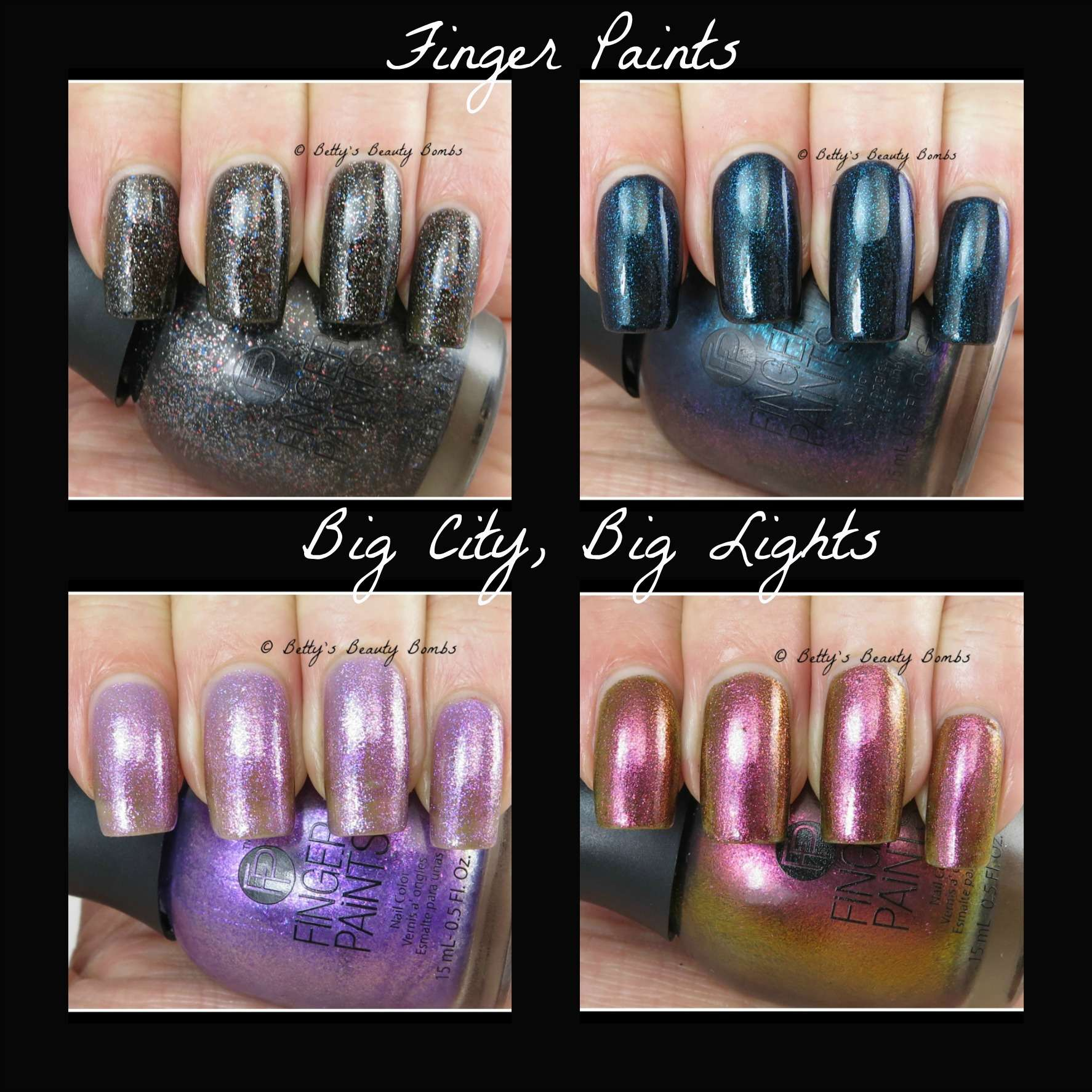 Finger Paints Bright Lights Big City Swatches - Lazy Betty