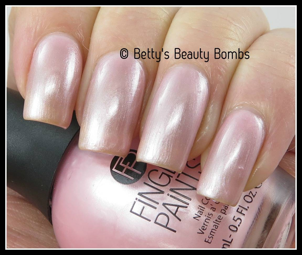 FingerPaints Pink Pigment Roses Nail Art - Lazy Betty