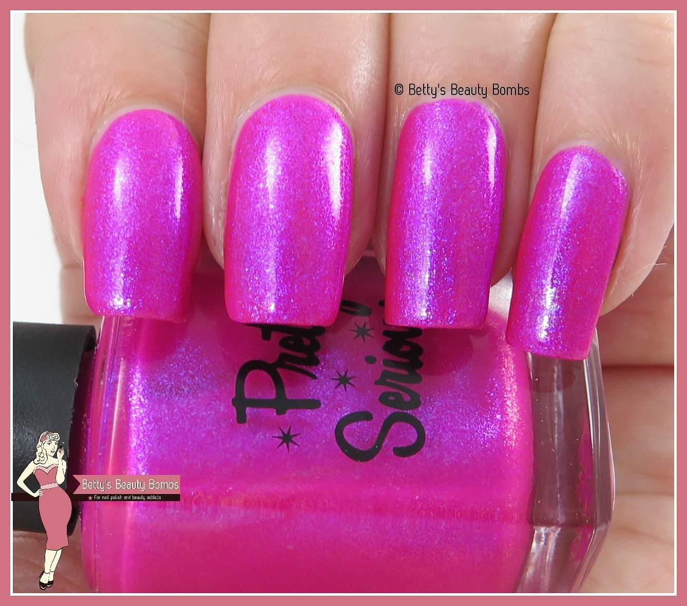 Pretty Serious The Pink One Nail Art Lazy Betty