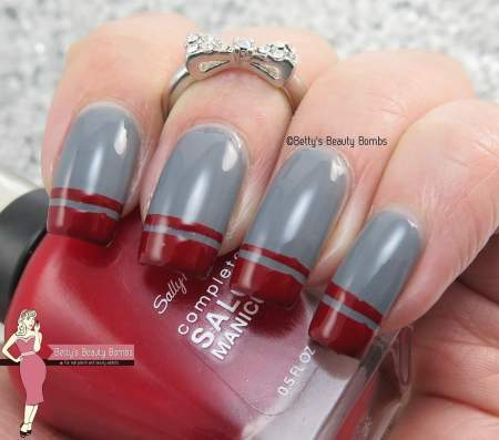 gray-and-red-french-mani