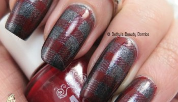Plaid nail art stamping lazy betty it girl fashion plates plaid nail art prinsesfo Choice Image