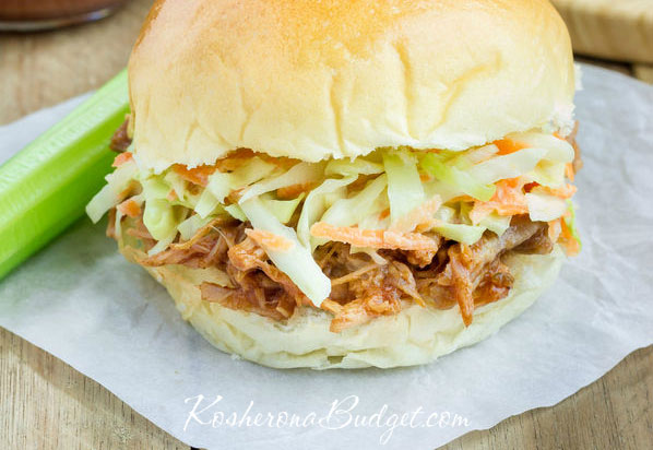 Easiest Kosher Slow Cooker BBQ Beef Burgers