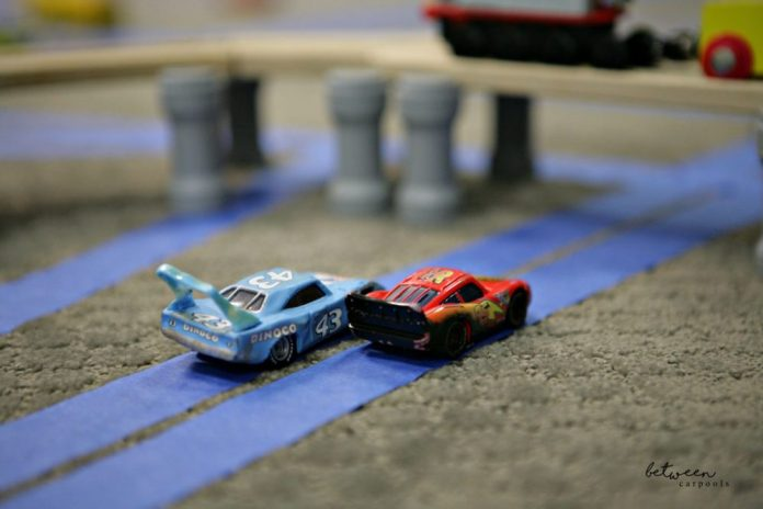 DIY Train Tracks. Best Boy's Tape Car Tracks. Stuck Indoors? The Best Boys' Activity for a Rainy Day on between carpools