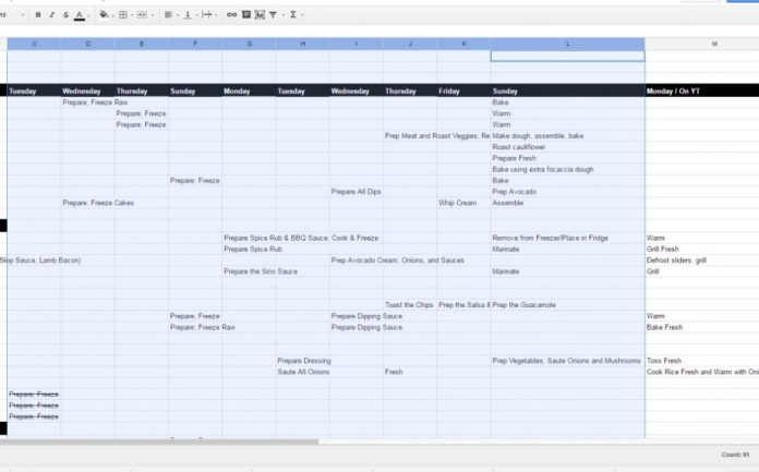 google excel sheet menu template on betweencarpools.com
