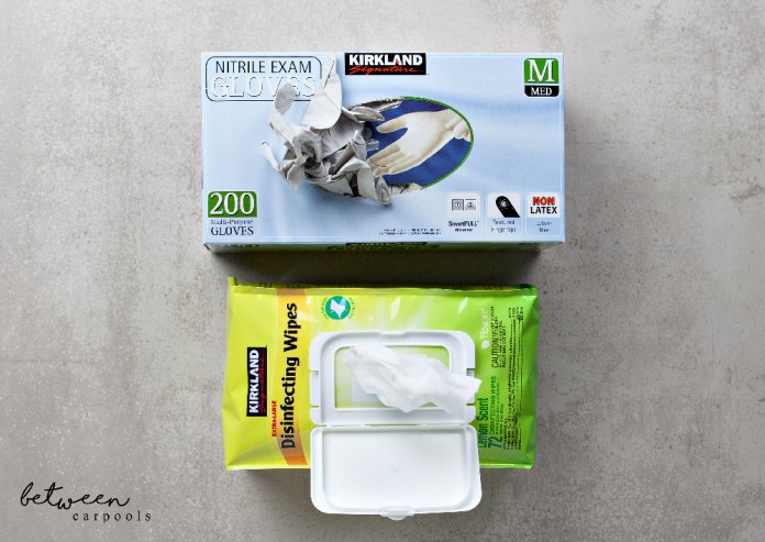 Costco's Kirkland's amazing disposable glovesm, and Costco Wipes. What to buy in Costco.