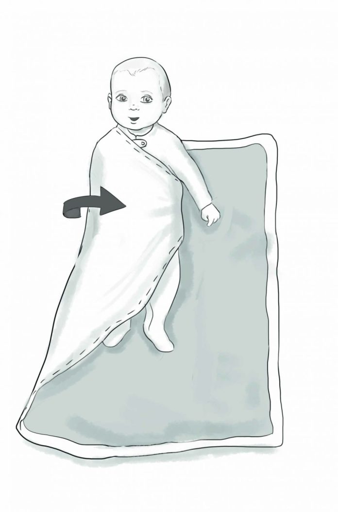 How to swaddle your baby. Wrap that baby tight! Learn step-by-step instructions for making the perfect swaddle from Artscroll's new release, Baby's First Year