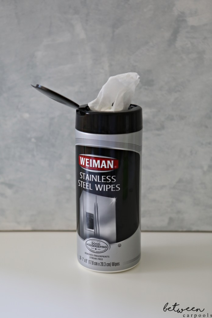 Weiman Stainless Steel Wipes. 3 Wipes You Should Never Be Without (and None of Them Are for the Baby). Life is hectic. Take every shortcut possible. Here's how I take my cleaning shortcuts without skimping on cleanliness.