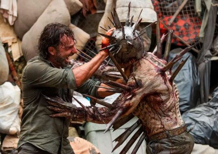 the walking dead season 7 ep 10 rick and spiky walker wilson
