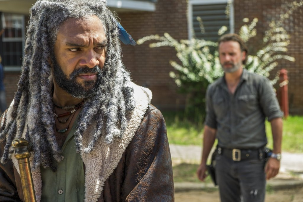 the walking dead season 7 episode 9 rick and king Ezekiel