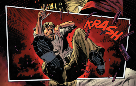 Mike Perkins explosive artwork that makes the action in Iron Fist #1 just pop!