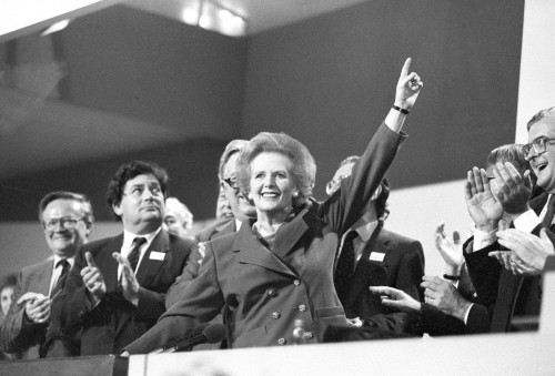 "Thatcher must have been one tough woman for the Soviets to nickname her the ""Iron Lady.""  Britain's first female Prime Minister was elected an unprecedented 3 times, serving from 1979 until her resignation as Conservative Party leader in 1990.  Thatcher never flinched as she pursued divisive, conservative policies of monetarism, privatization, and self-help.  British arts, cinema and particularly punk music exploded under Thatcherism as artists and others revolted against her policies. Close with Ronald Reagan and savior of the Britain's Falkland Islands, Thatcher lived until age 87."