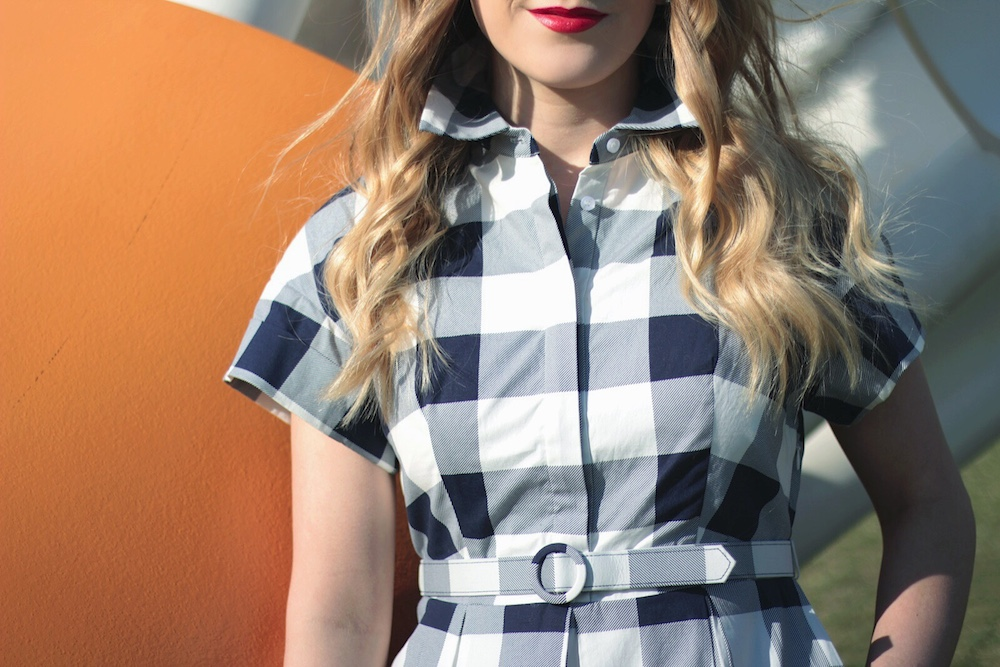 gingham dress between two coasts