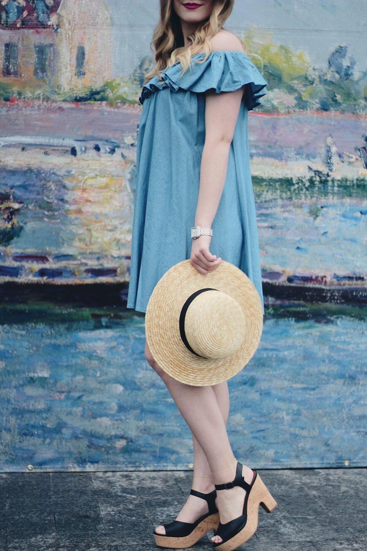 chambray dress summer style