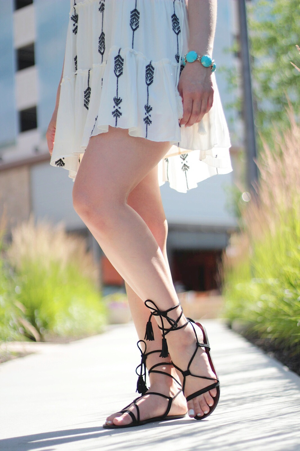 steve madden lace-up sandals