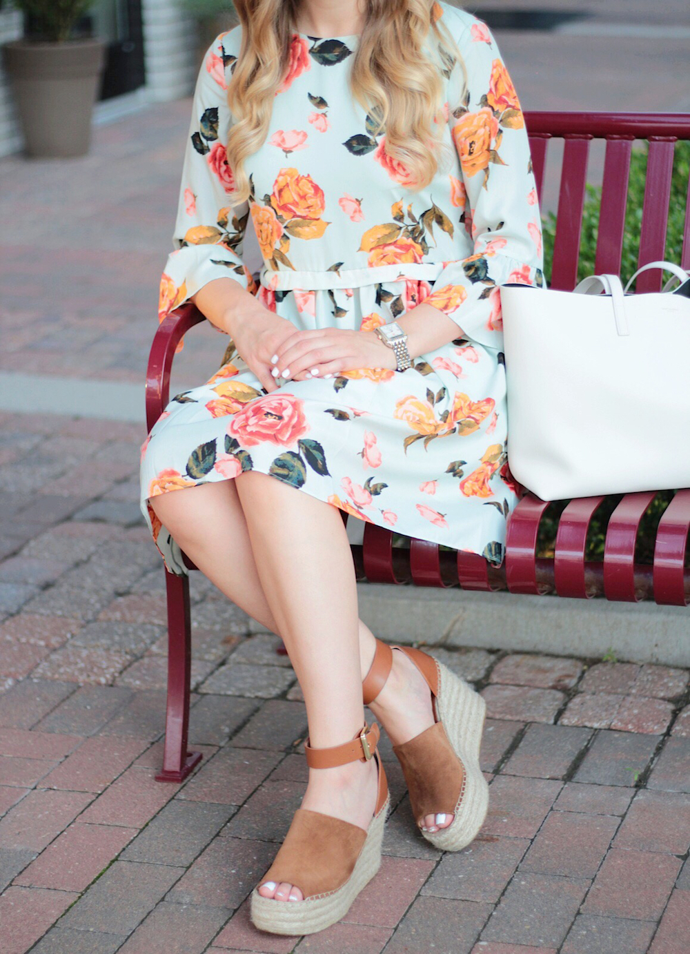 cece floral dress between two coasts