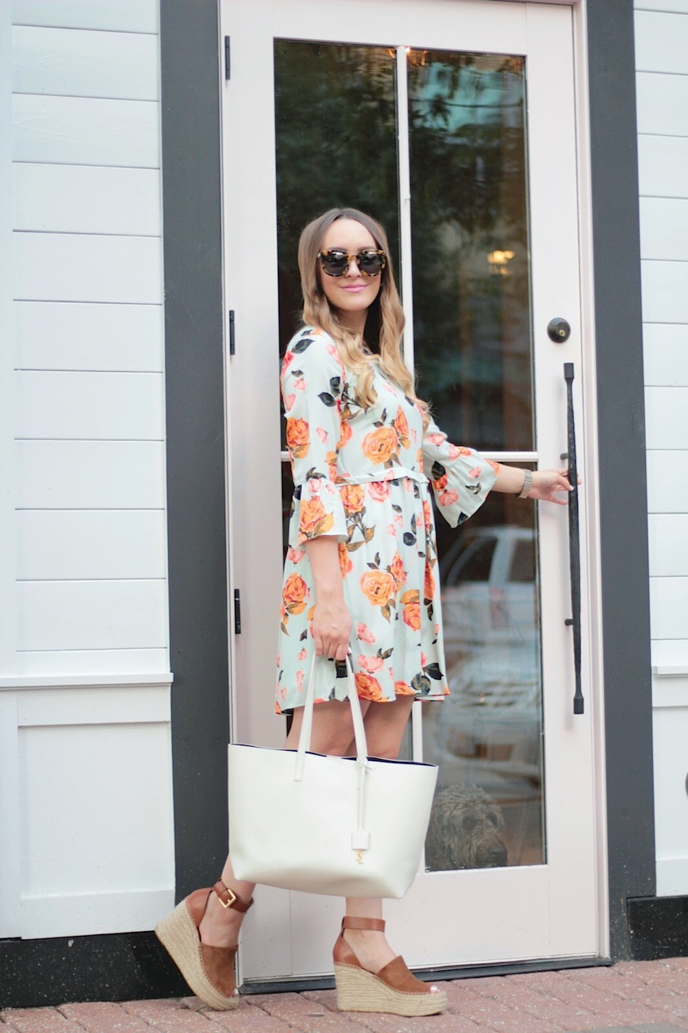 cynthia steffe floral dress