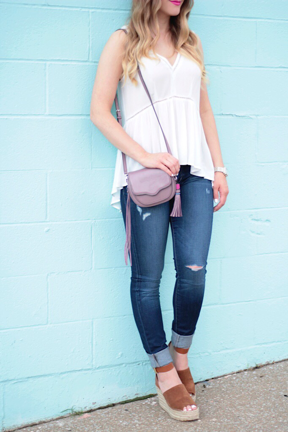 easy breezy perfect white tank