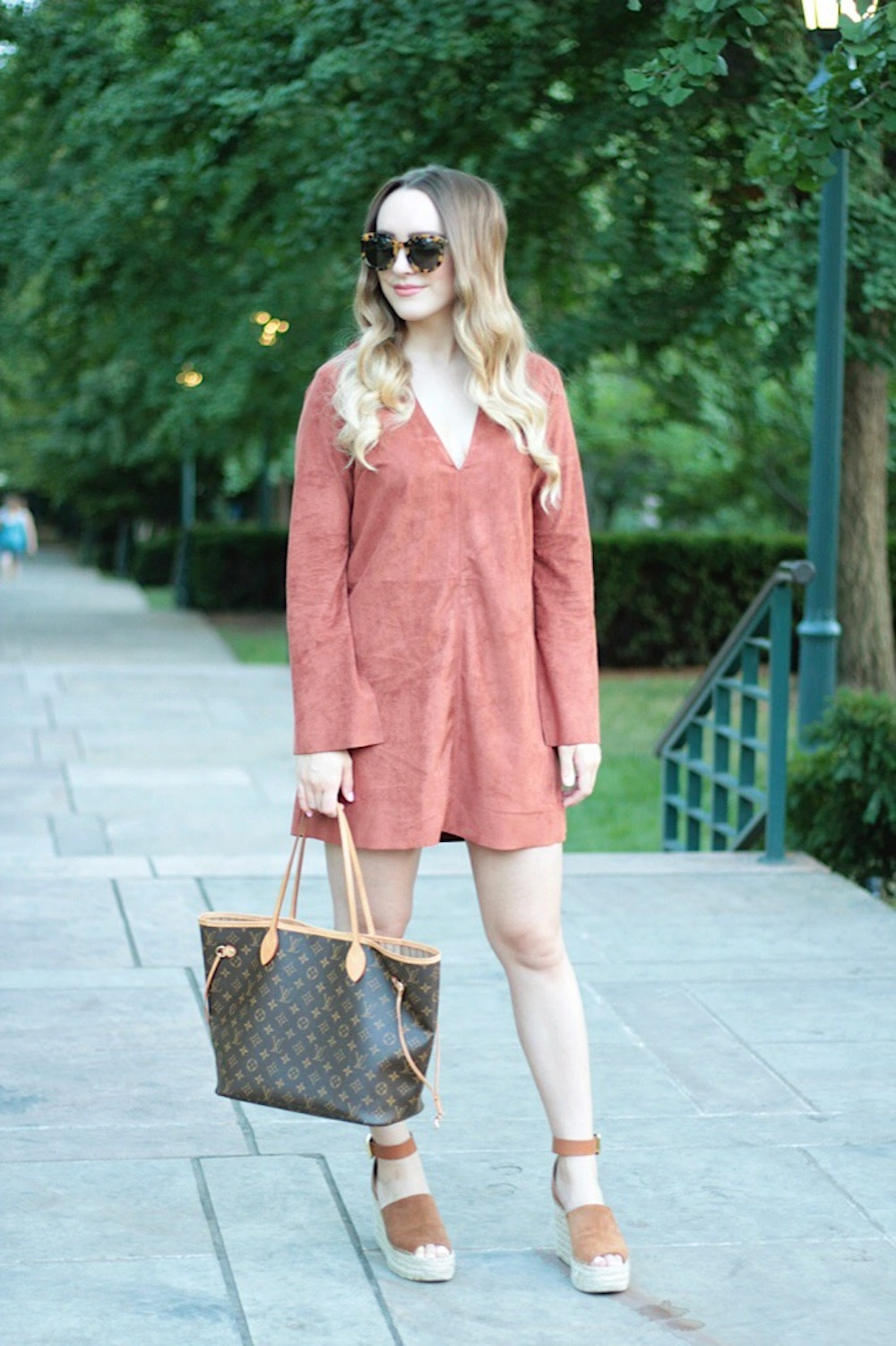 suede shift dress fall style