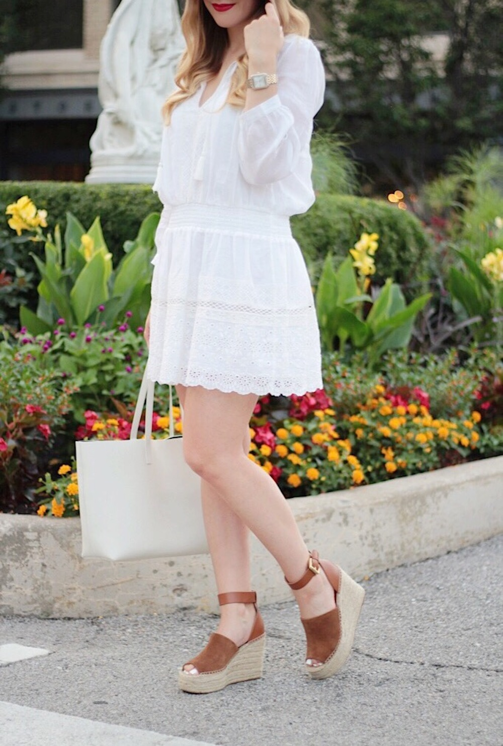 white joie lanton dress fashion blogger