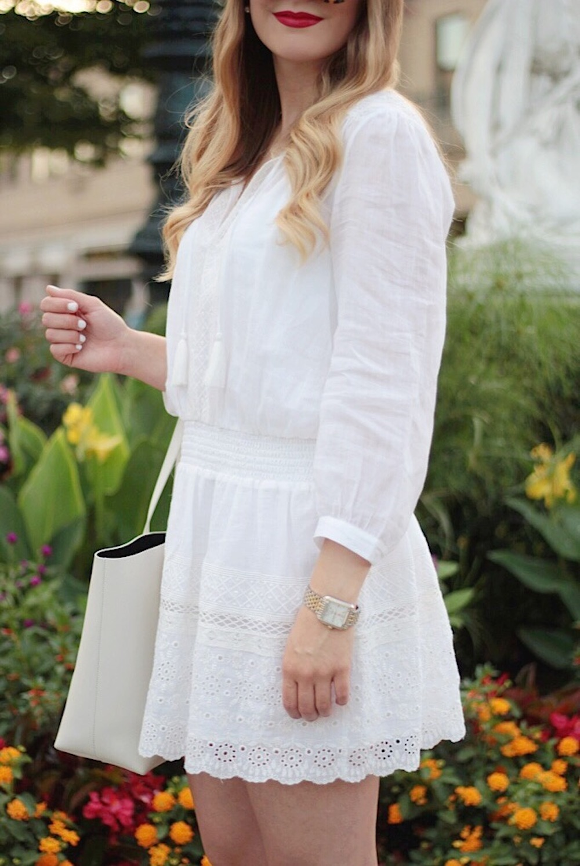 white joie dress summer style