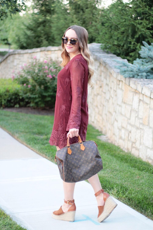 burgundy dress fall style