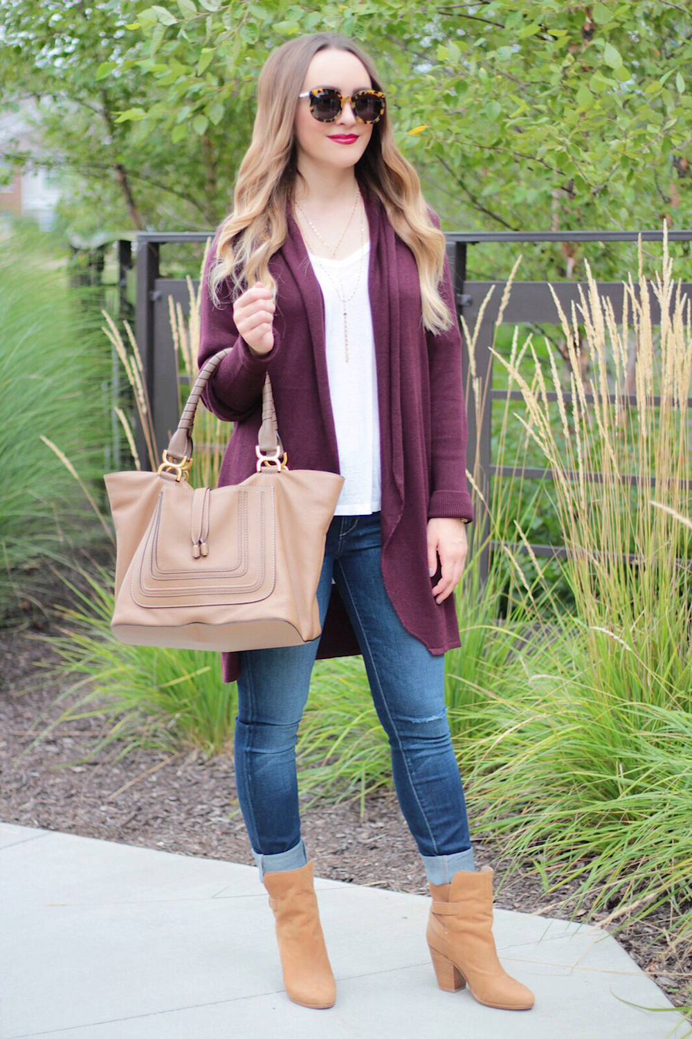 burgundy sweater fall style