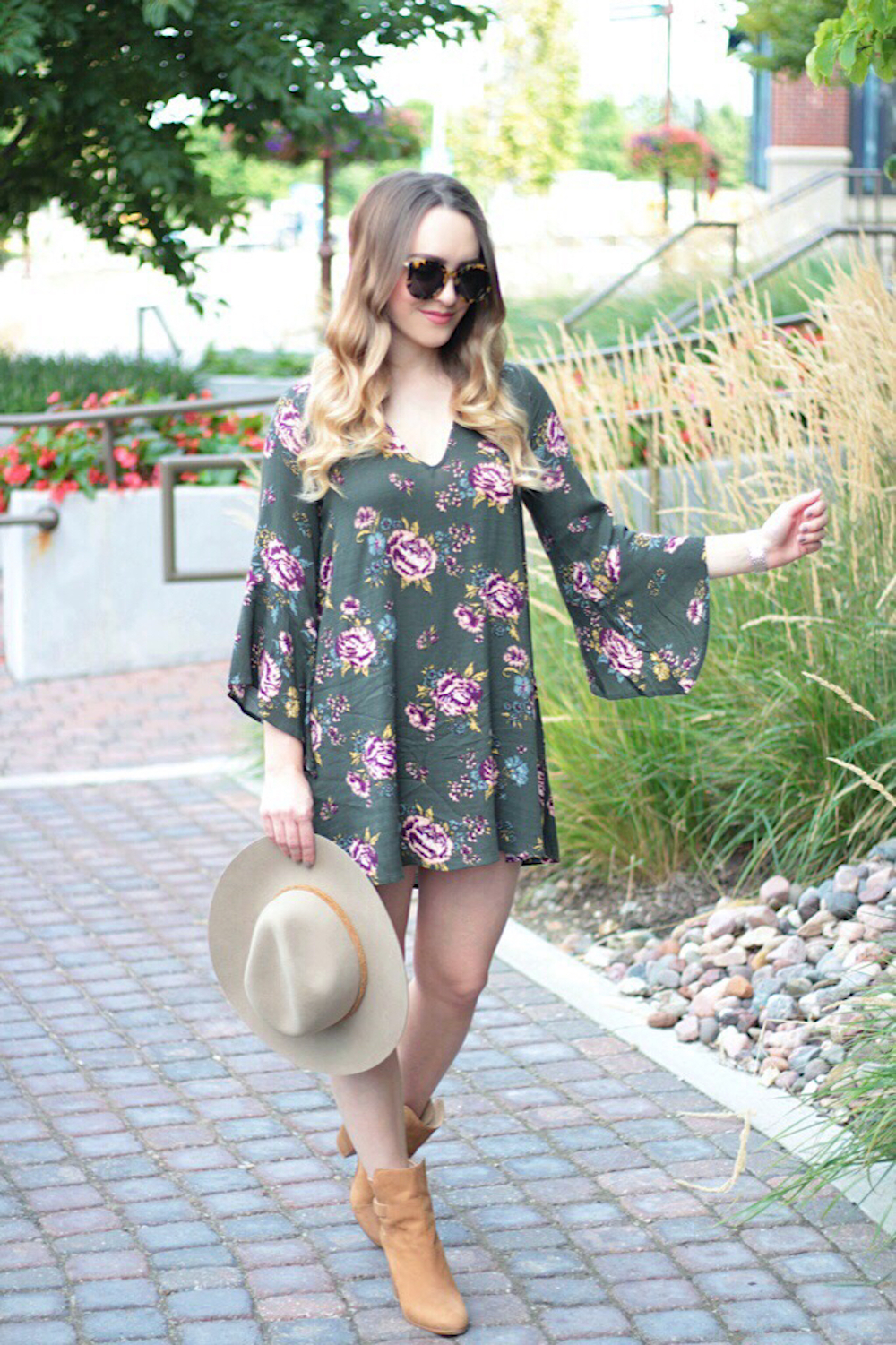 fall floral dress under 50 rachel puccetti