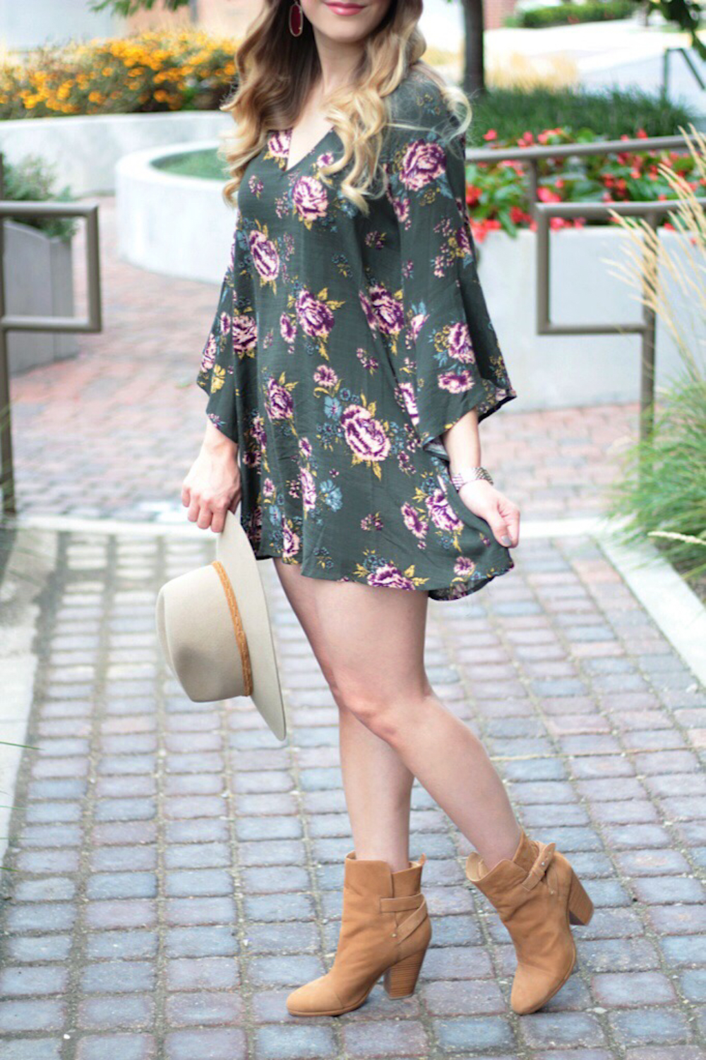 fall style floral dress under 50