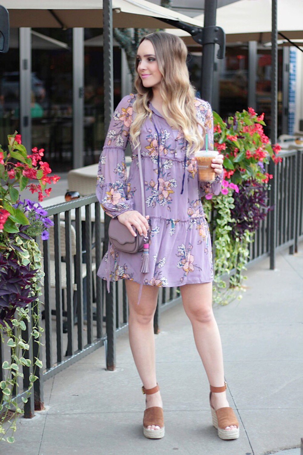 lilac floral dress rachel puccetti