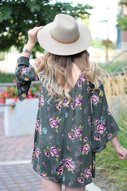 lush fall floral dress