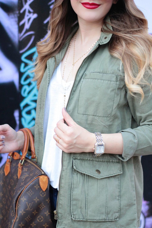 green cargo jacket nyfw fashion blogger