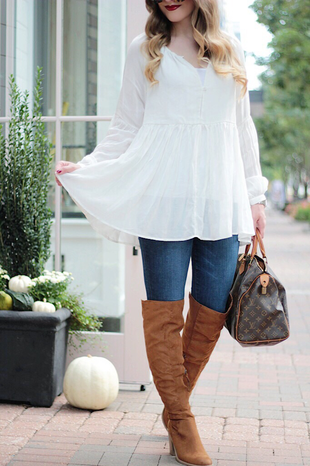 sincerely jules blouse fashion blogger rachel puccetti