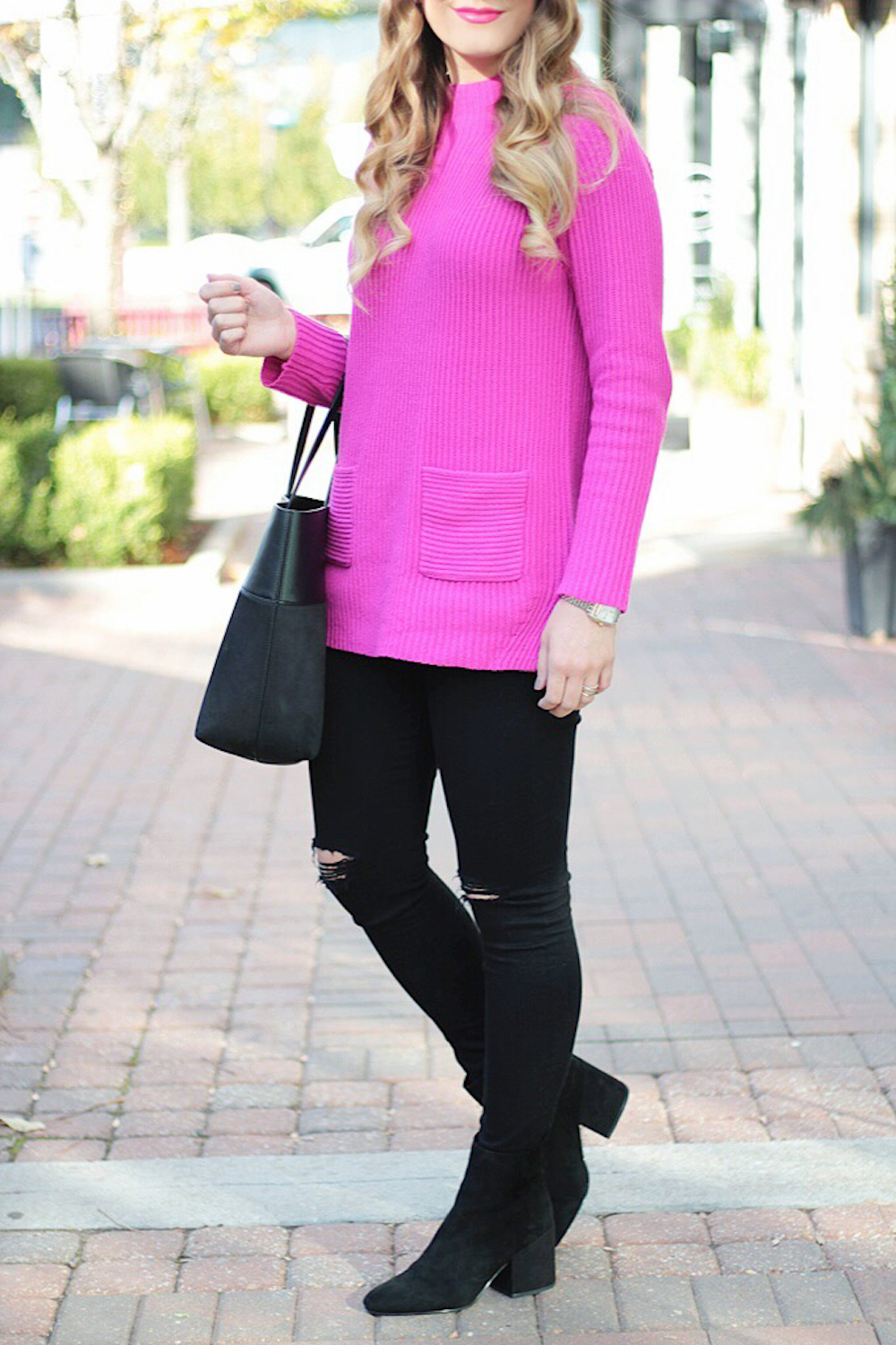 casual sweater style rachel puccetti between two coasts