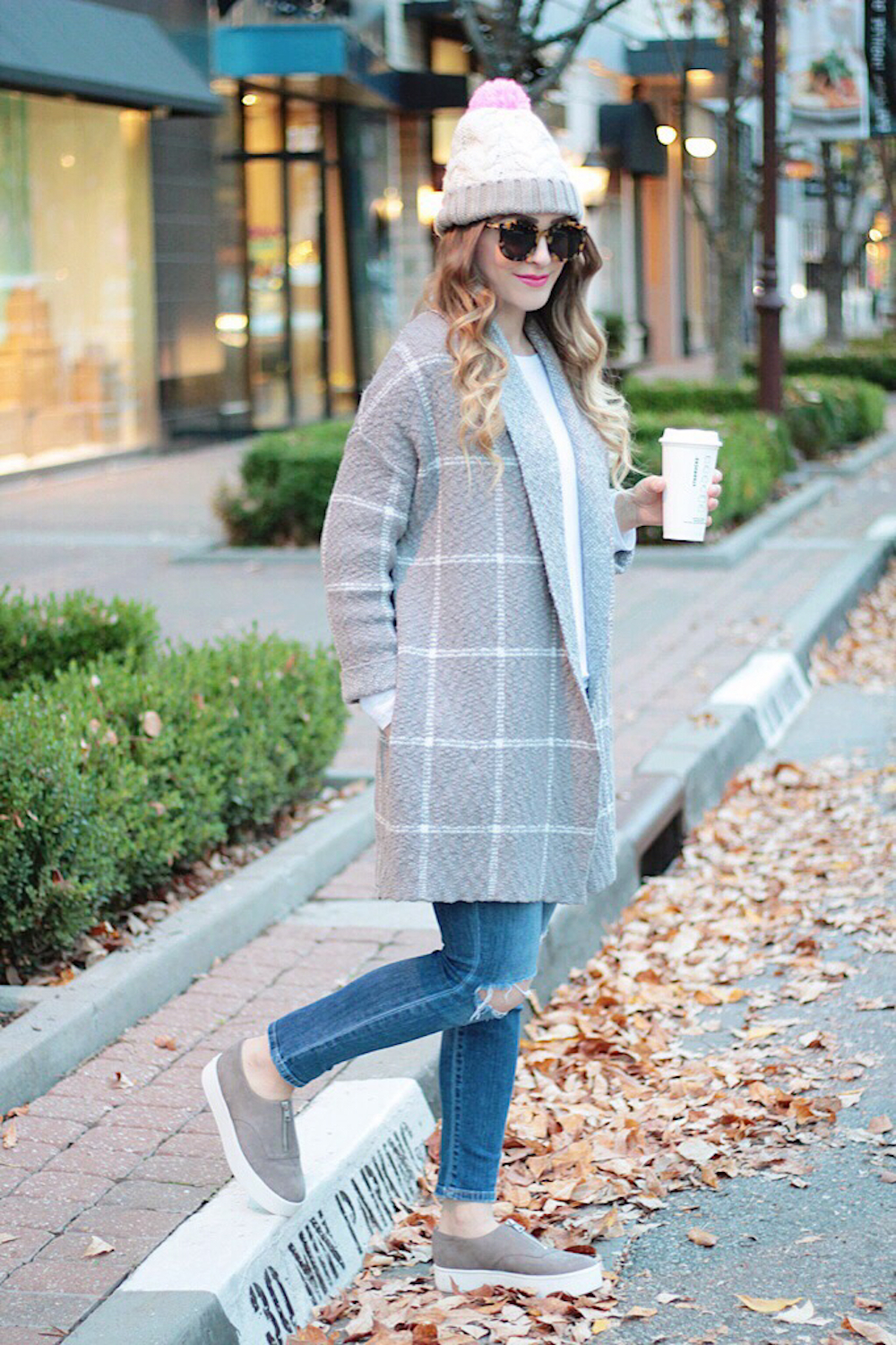 fall street style oversized cardigan rachel puccetti